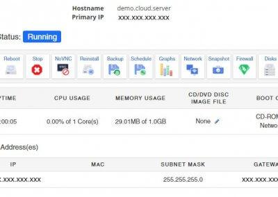 Server Control Panel